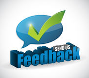 Send us feedback message sign illustration design Stock Photos