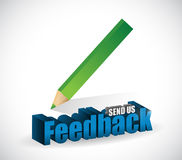 send us feedback pencil sign illustration design Stock Photos