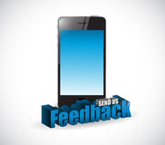 Send us feedback phone sign illustration design Royalty Free Stock Photo