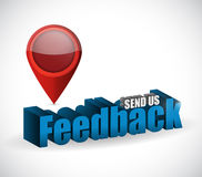 Send us feedback pointer sign illustration design. Over white Royalty Free Stock Photos