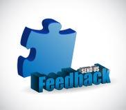 Send us feedback puzzle pieces sign Stock Image