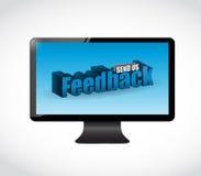 Send us feedback screen sign illustration Stock Image