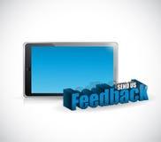 Send us feedback tablet sign illustration design Stock Image