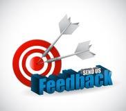 Send us feedback target sign illustration design Royalty Free Stock Photography