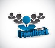 Send us feedback teamwork sign illustration design Royalty Free Stock Photo