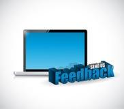 Send us feedback tech computer sign Royalty Free Stock Photos