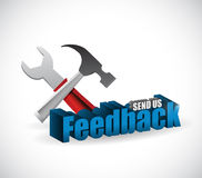 send us feedback tools sign illustration design Royalty Free Stock Photos