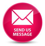 Send us message elegant pink round button Royalty Free Stock Image