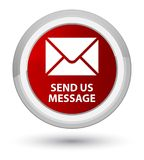 Send us message prime red round button Royalty Free Stock Images