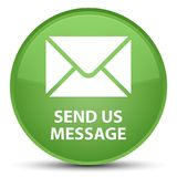 Send us message special soft green round button Royalty Free Stock Images