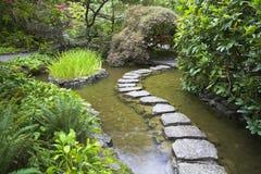 Senda para peatones de piedras. Imagen de archivo