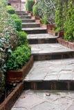 Senda para peatones del jardín Foto de archivo
