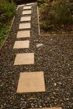 Senda para peatones en el jardín Imágenes de archivo libres de regalías