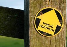 Senda para peatones pública Fotografía de archivo libre de regalías