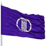 Sendai Capital City Flag sull'asta della bandiera, volante nel vento, isolato su fondo bianco Fotografia Stock Libera da Diritti