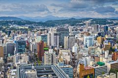 Sendai Japan. Sendai, Japan cityscape from above Royalty Free Stock Photography