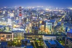 Sendai, Japan. Cityscape over Sendai Station Royalty Free Stock Photo