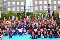 Sendai Suzume Odori 2011 fotografia de stock royalty free