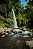 Sendang Gile Waterfall Imágenes de archivo libres de regalías
