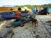 Sendangbiru beach Royalty Free Stock Photos