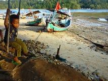 Sendangbiru beach Royalty Free Stock Photography