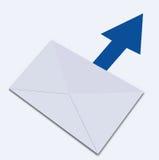 Sended bokstav. Illustration Fotografering för Bildbyråer