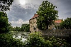 Senden Castle in Germany. Water castle in Münsterland, Germany Stock Image