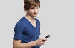 Senden der Textmeldungen Lizenzfreies Stockfoto