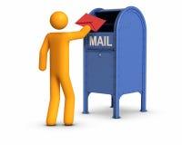 Senden des Briefs stock abbildung