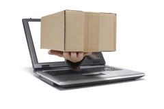 Senden Sie ein Paket lizenzfreie stockbilder