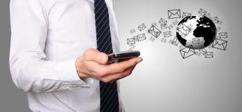 Senden Sie eine E-Mail lizenzfreies stockbild
