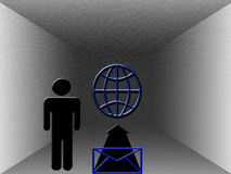 Senden Sie eine eMail Lizenzfreie Abbildung
