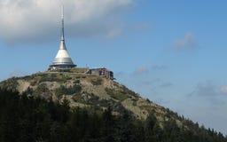 Senden Sie Kontrollturm und Hotel Stockbilder