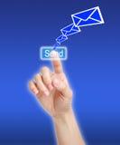 Senden Sie Mitteilung Stockbild