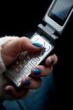 Senden Sie SMS Stockbild