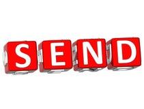 Senden Sie Würfeltext Lizenzfreies Stockbild