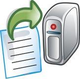 Senden Sie zur Server-Ikone lizenzfreie abbildung