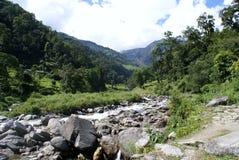 Senderismo de Annapurna Imagen de archivo libre de regalías