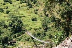 Senderismo de Annapurna Imágenes de archivo libres de regalías