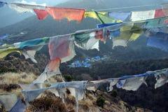 Senderismo de Himalaya Nepal Fotos de archivo libres de regalías