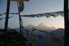 Senderismo de Himalaya Nepal Imagen de archivo