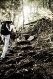 Senderismo de la montaña Imagen de archivo libre de regalías