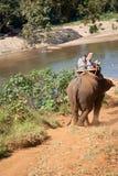 Senderismo del elefante Foto de archivo libre de regalías