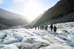Senderismo del glaciar del Fox, Nueva Zelanda Imagen de archivo