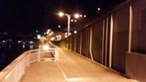 Sendero borroso en la noche Imagen de archivo libre de regalías