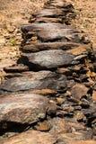 Sendero de la roca Fotos de archivo libres de regalías