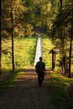 Sendero en el parque nacional en Lituania Fotografía de archivo libre de regalías