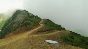 Senderos en el top de la montaña Fotografía de archivo libre de regalías