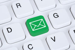 Sending E-Mail via internet on computer keyboard Stock Image
