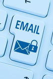 Sending encrypted E-Mail email protection secure mail internet l Stock Photography
